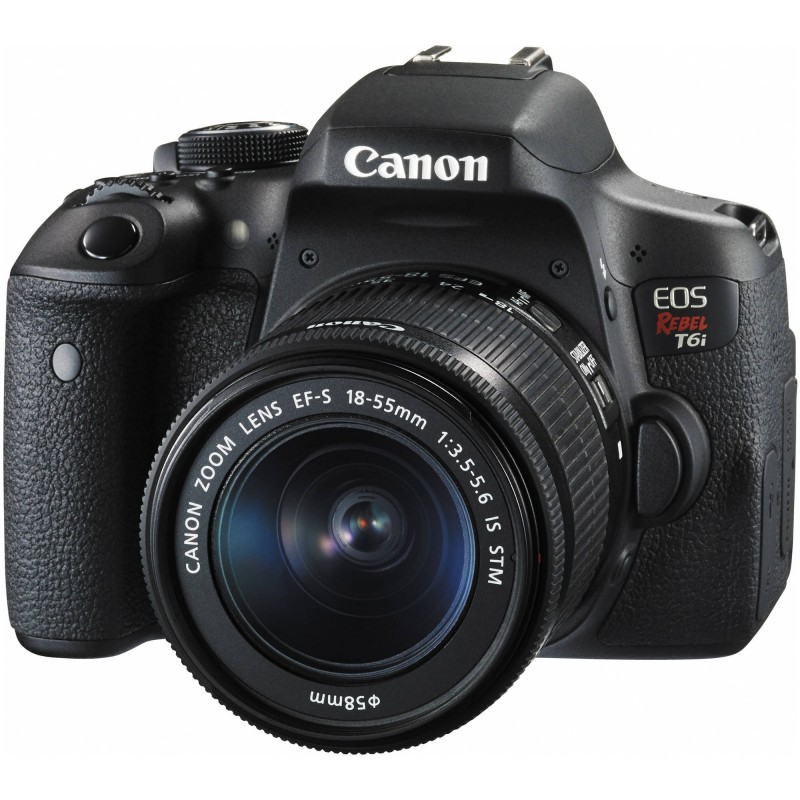 Canon T6i com18-55mm IS STM.
