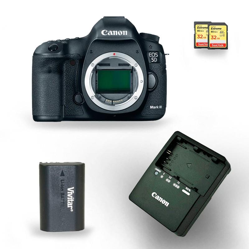 kit-locacao-canon-5d-mark-iii-com-bateria-lp-e6-extreme-32gb-90mbs 4 câmeras aluguel de equipamentos fotográficos rj