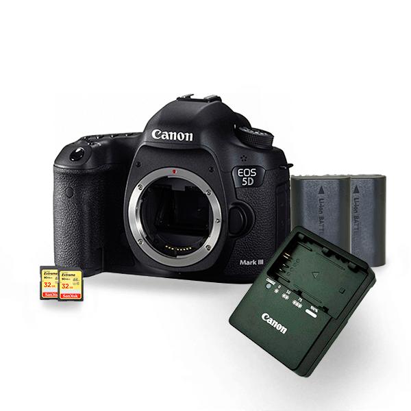 kit-locacao-canon-5dmarkiii-3-com-bateria-lp-e6-extreme-32gb-90mbs-cameras-aluguel-de-equipamentos-fotográficos-rj