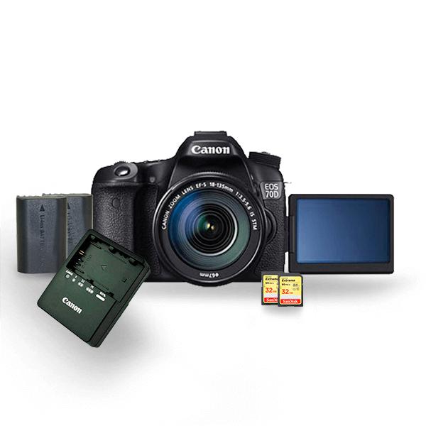kit-locacao-canon-70d-2-com-bateria-lp-e6-extreme-32gb-90mbs-câmeras-aluguel-de-equipamentos-fotográficos-rj