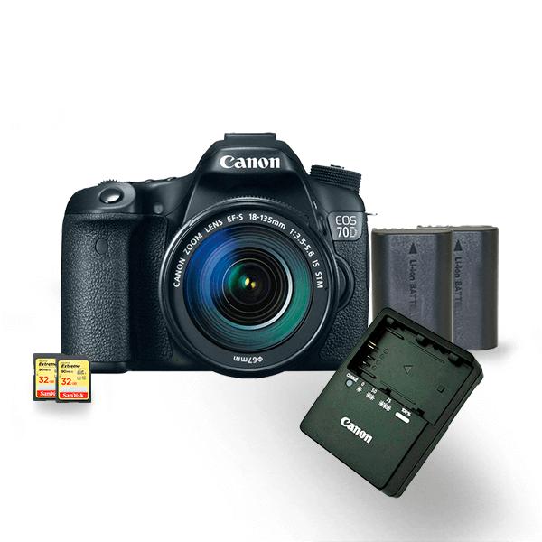 kit-locacao-canon-70d-3-com-bateria-lp-e6-extreme-32gb-90mbs-câmeras-aluguel-de-equipamentos-fotográficos-rj