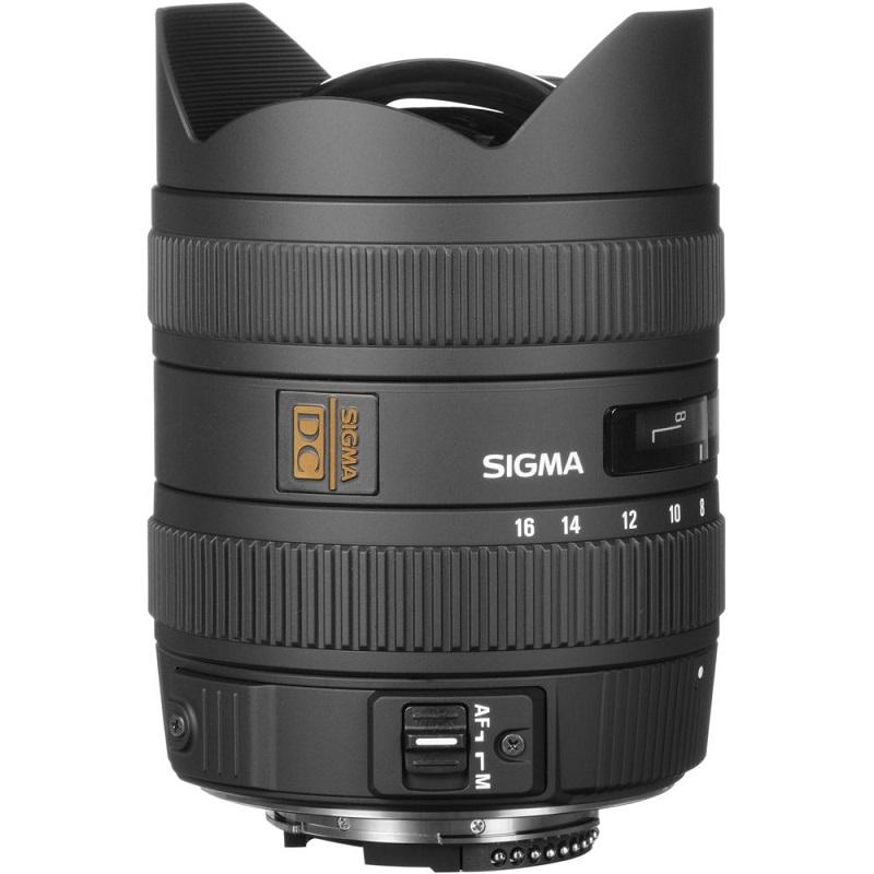 Lente Sigma 8 16mm f 4.5 5.6 DC HSM (Canon) – Lateral