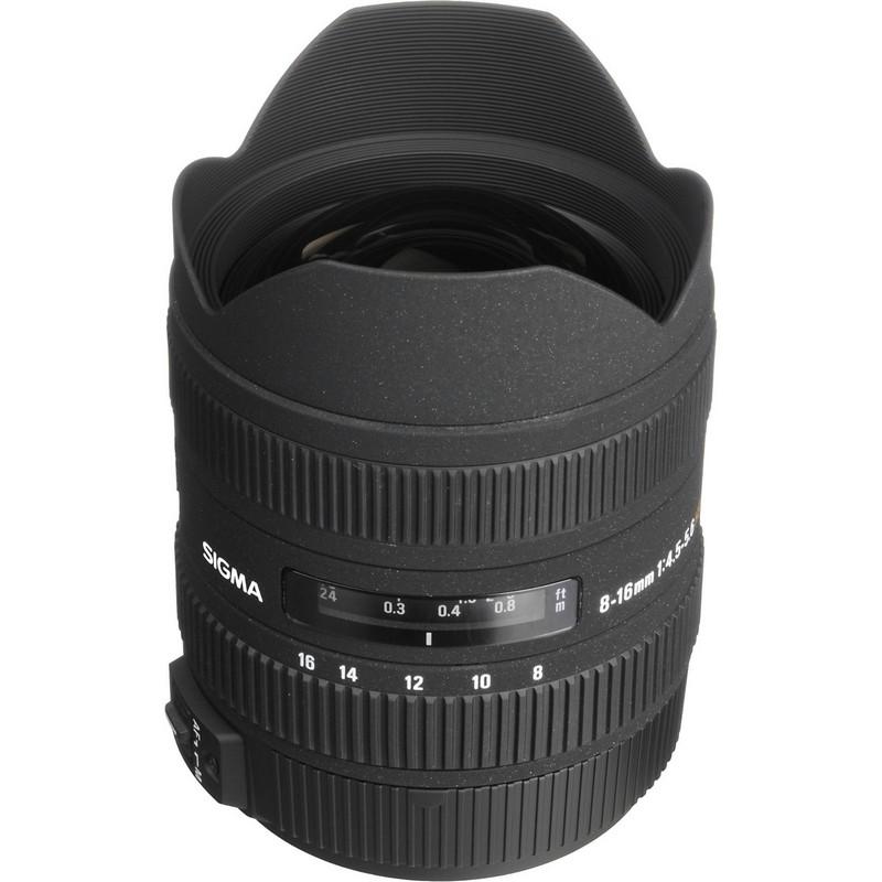 Lente Sigma 8 16mm f 4.5 5.6 DC HSM (Canon)