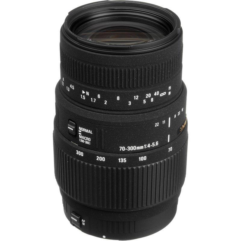 Lente Sigma 70 300mm f 4 5.6 DG Macro