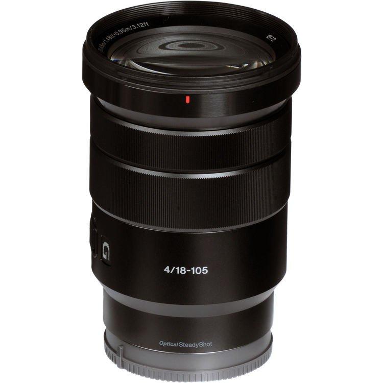 Lente Sony E PZ 18 105mm f/4G OSS – Lateral