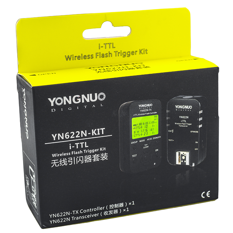 Radio Flash Yongnuo YN622N KIT (Nikon) – Caixa